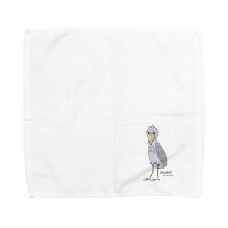ハシビロコウ ver.2 Towel handkerchiefs