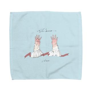 あなたの手が大好き - フェイスタオル Towel handkerchiefs