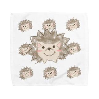 クレヨンハリネズミ Towel handkerchiefs