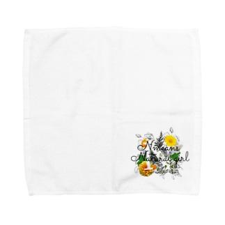 イニシャルNのおんなのこ Towel handkerchiefs
