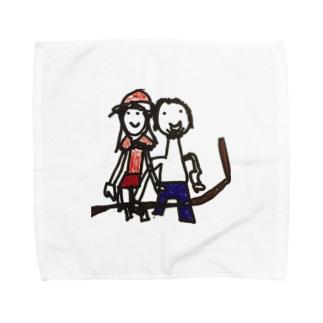 マブダチ 'Art by Miss N' Towel handkerchiefs