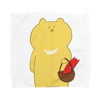 カニチャンとわぐま Towel handkerchiefs