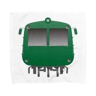 玉電 500系 初代青ガエル ビッグ Towel handkerchiefs