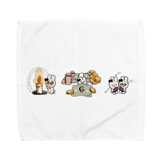 3種盛り合わせダ! Towel handkerchiefs