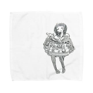 げきじょう Towel handkerchiefs