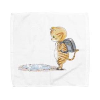 水溜まり猫 Towel handkerchiefs