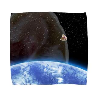 宇宙のあんぐりよも Towel handkerchiefs