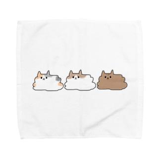 とける猫シリーズ Towel handkerchiefs