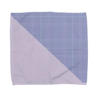 知的で優しげチェック柄シリーズ Towel handkerchiefs