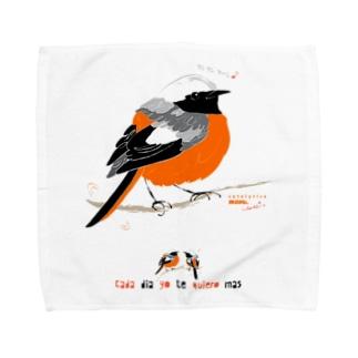 MARU ジョビ丸(大)まるい小鳥 まる過ぎる ジョウビタキ Towel handkerchiefs