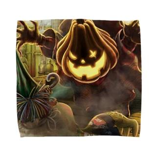 えんとつ町のプペル•パンプキン Towel handkerchiefs