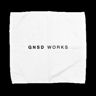gnsdworksのGNSD WORKS ロゴタオルハンカチ