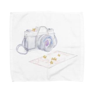 香りを映す【金木犀】 Towel handkerchiefs