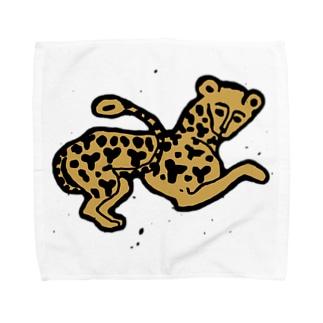 ヒョウ Towel handkerchiefs