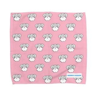 シュナウザーおじさんハンカチ Towel handkerchiefs