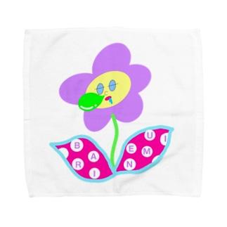 バリ眠ハナちゃん Towel handkerchiefs