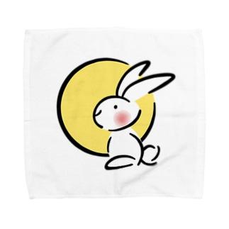 つきがきれいですね Towel handkerchiefs