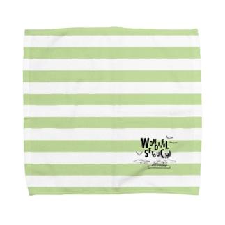 WONDERFUL SETOUCHI GREEN Towel handkerchiefs