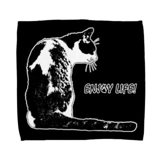 CAT_21_1W_BL Towel handkerchiefs