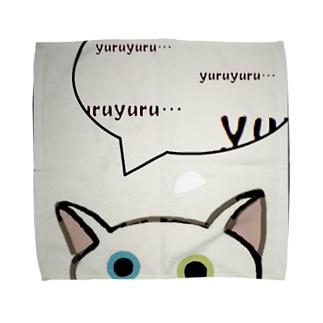 「そーっと・・・」(ゆる猫オッド)Ⅱ Towel handkerchiefs
