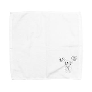 はなこちゃん 05 モノクロ Towel handkerchiefs