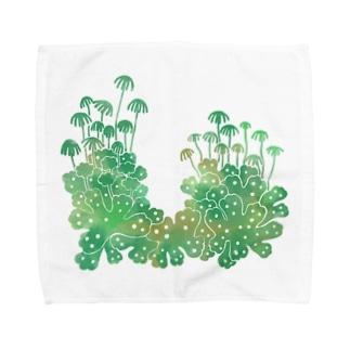 Cafe de Foretのゼニゴケ Towel handkerchiefs