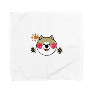 おはよう秋田犬アキラくん Towel handkerchiefs
