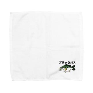ねこねこうおのブラックバス兄貴 Towel Handkerchief