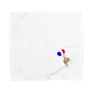 KUMAKICHI-balloon- Towel handkerchiefs