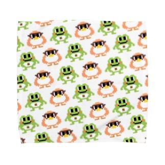 もずはゃタオルハンカチ【ドット】 Towel handkerchiefs