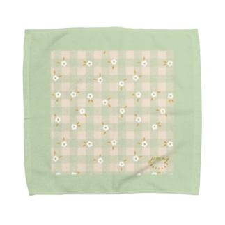 Jimmy Buffalo - Daisy Gingham ミント Towel handkerchiefs