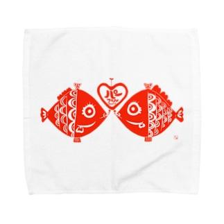 ゴアイサツハンコ★ Towel handkerchiefs