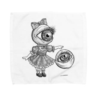 目玉少女 Towel handkerchiefs