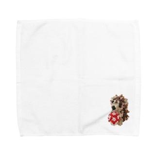 ビーズのハリネズミくん Towel handkerchiefs