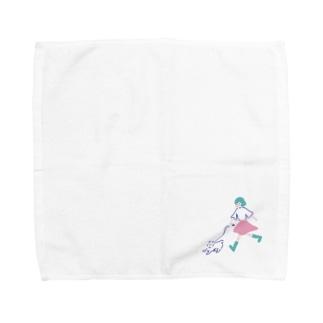 いぬ と さんぽ Towel handkerchiefs