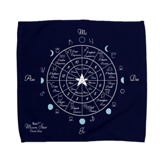 moon star ダークカラー Towel handkerchiefs