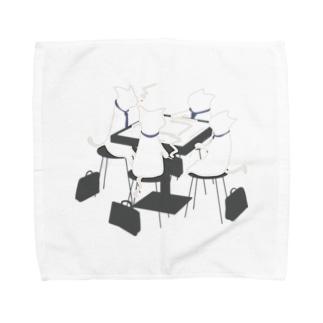 ねこ麻雀 Towel handkerchiefs