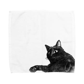 くろねこ  エル Towel handkerchiefs