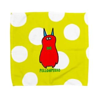 赤いモンスター Towel handkerchiefs