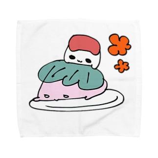 さくらおもちこちゃんとあんころもちよちゃん Towel handkerchiefs