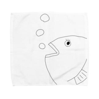 あくあーとのミセスおさかな Towel handkerchiefs
