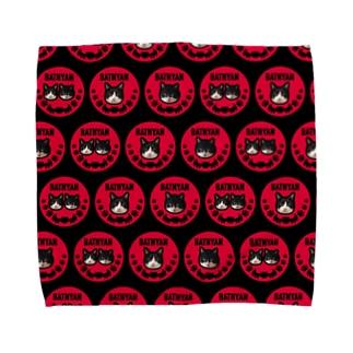 バットニャン ハンカチL Towel handkerchiefs