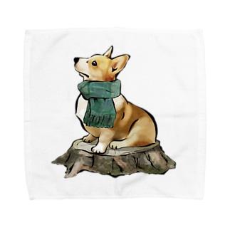 マフラー犬 コーギー Towel handkerchiefs