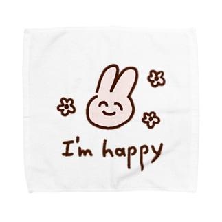 はっぴーばにー Towel handkerchiefs