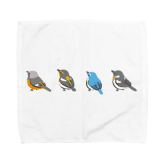 ヒタキたち(野鳥たち) Towel handkerchiefs