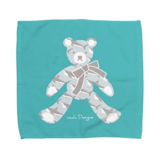 テディベア好きのためのサメ Towel handkerchiefs