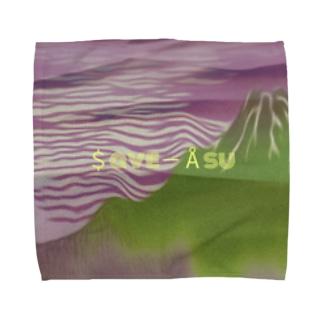 地球温暖化 Towel handkerchiefs
