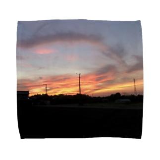 ばにーすぺーの夕焼け Towel handkerchiefs