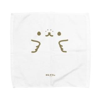 かんザラシフェイス Towel handkerchiefs