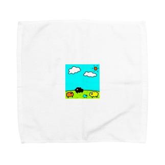 カラフルな羊たちが住む星🐏 Towel handkerchiefs